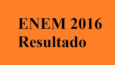 ENEM 2016 Resultado