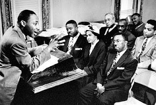 Rosa Parks, Martin Luther King, Montgomery Bus Boycott, Montgomery Improvement Association Meeting