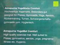 Information: Yogamatte »Annapurna Comfort« / Die ideale Übungs-Matte für Yoga, Pilates, Gymnastik. Maße: 183 x 61 x 0,5cm / In vielen Trend-Farben erhältlich.