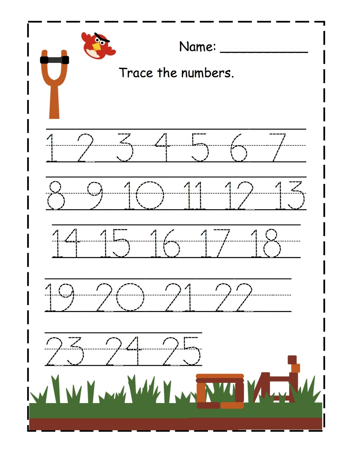 Tracing Numbers 1 50