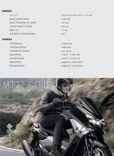 Yamaha N-MAX-SPESIFIKASI DIMENSI dan RANGKA