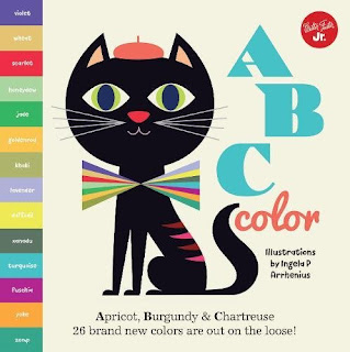 ABC Color Apricot, Burgundy & Chartreuse has fantastic illustrations that take kids on a color-filled journey through the alphabet. From apricot to jade, umber to zomp you're sure to learn a few new colors alongside your kids.
