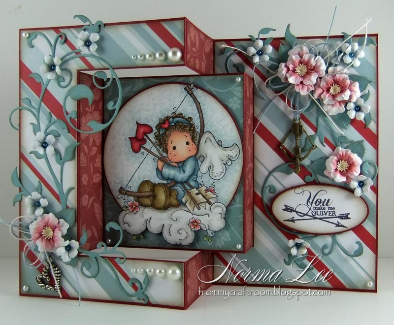 From My Craft Room Tri-Fold Card Template - Tri Fold Card
