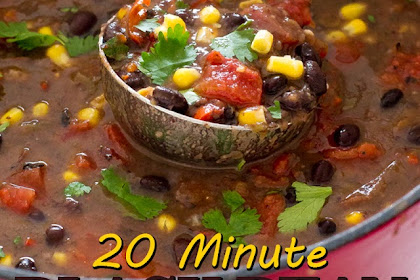 20 MINUTE BLACK BEAN SOUP
