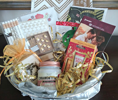 Feminine Office Supplies Gift Basket, mom office, home office, woman's office,