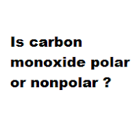 Is carbon monoxide polar or nonpolar ?