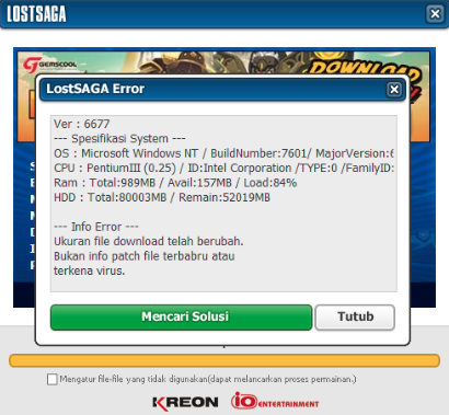 Cara Mengatasi Download Update Lama dan Stuck di Lost Saga