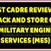 First Cadre Review for Barrack and Stores cadre of MES : Serious implication
