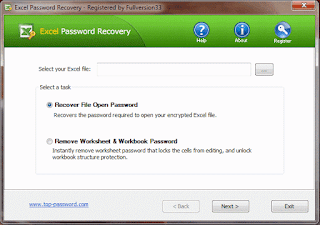 Top Password Excel Password Recovery 1.90