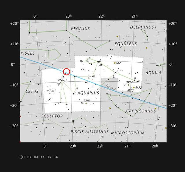 Localização da estrela TRAPPIST-1