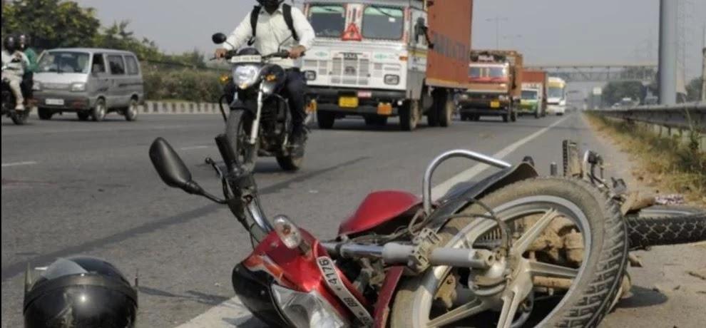 अज्ञात वाहन ने बाइक में मारी टक्कर ,हादसे में युवती की मौत