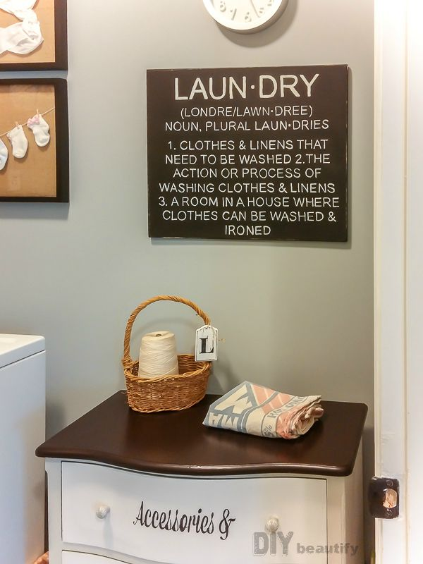 laundry definition painted sign