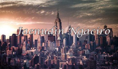Jaenudin Ngaciro