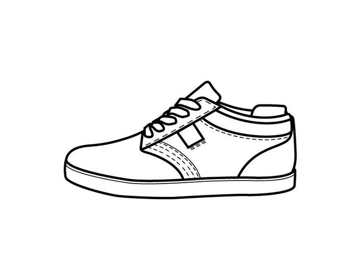Coloring Pages Shoes Printable - Democraciaejustica