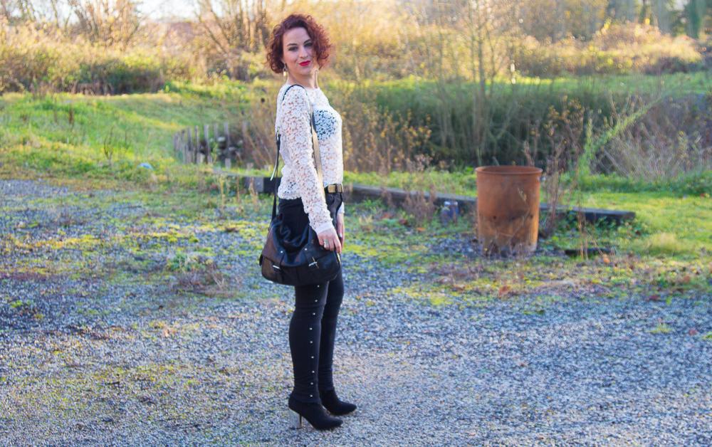 look - rock - feminin - noir