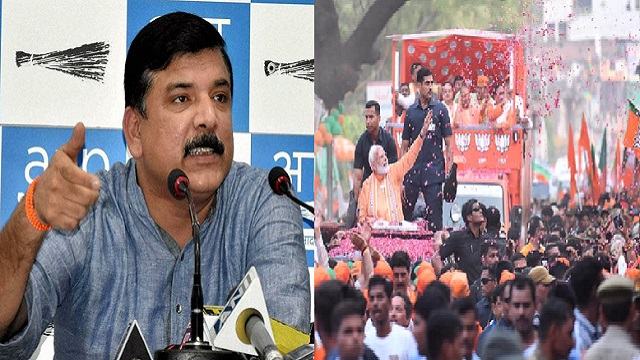 AAP MP Sanjay Singh demands EC, disqualified from contesting elections Narendra Modi