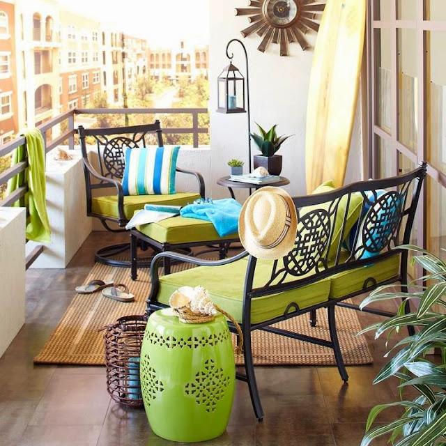 Cómo decorar balcones pequeños-20
