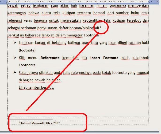 Cara Membuat Footnote Atau Catatan Kaki Dan Endnote Dalam Microsoft