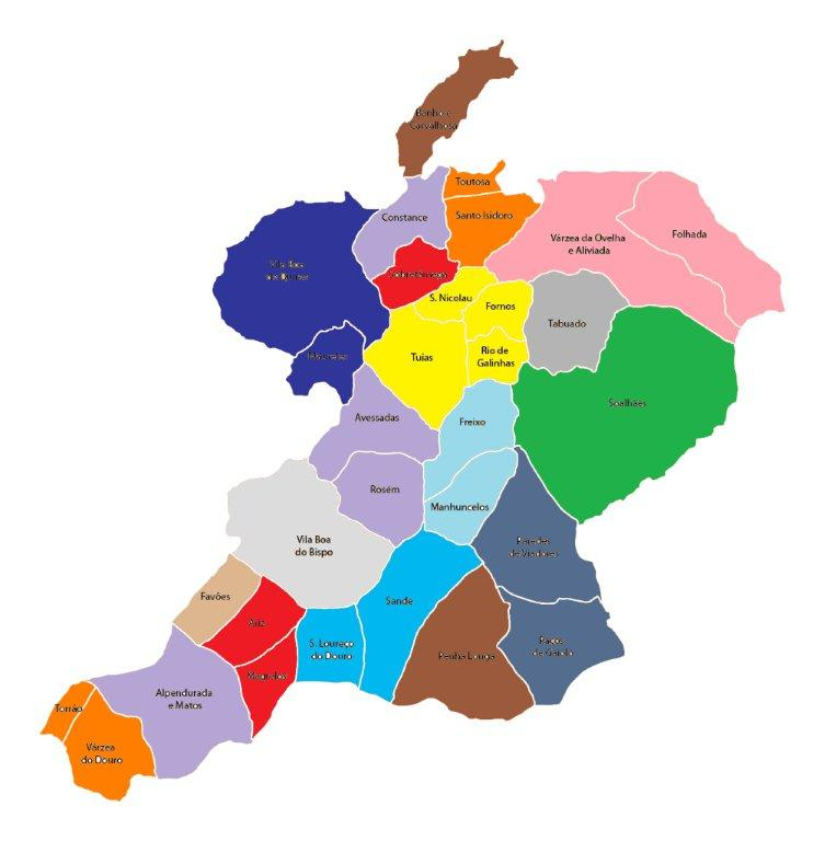 marco de canaveses mapa Marcoense: Proposto novo mapa de freguesias marco de canaveses mapa