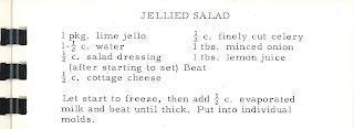 A typed recipe for jellied salad.