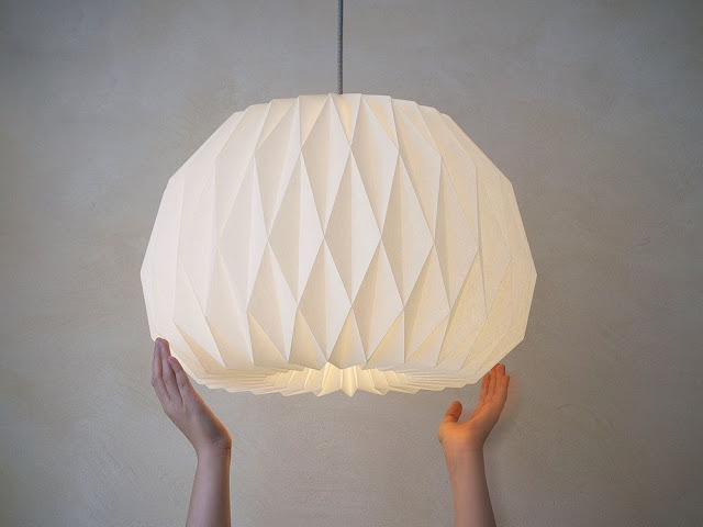 How to make Origami Lampshade | Paper Origami Guide