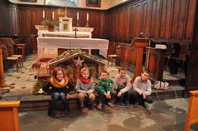 crèche Eglise de Leigneux