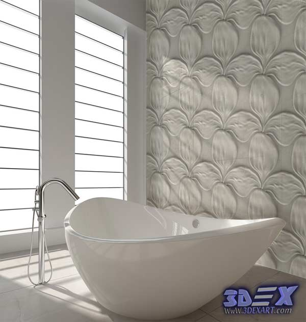 3d Gypsum Wall Panels, 3d Plaster Wall Paneling Design, Decorative Wall  Panels For Bathroom