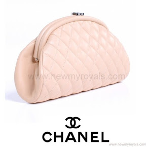 Princess Marie Style CHANEL Lambskin Quilted Timeless Clutch Bag