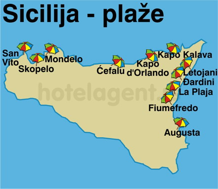 sicilija mapa ITALIJA SICILIJA ~ Nautilus Travel sicilija mapa