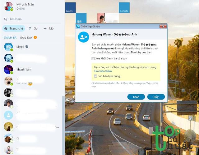 Làm thế nào để chặn tài khoản bạn bè trên Skype?