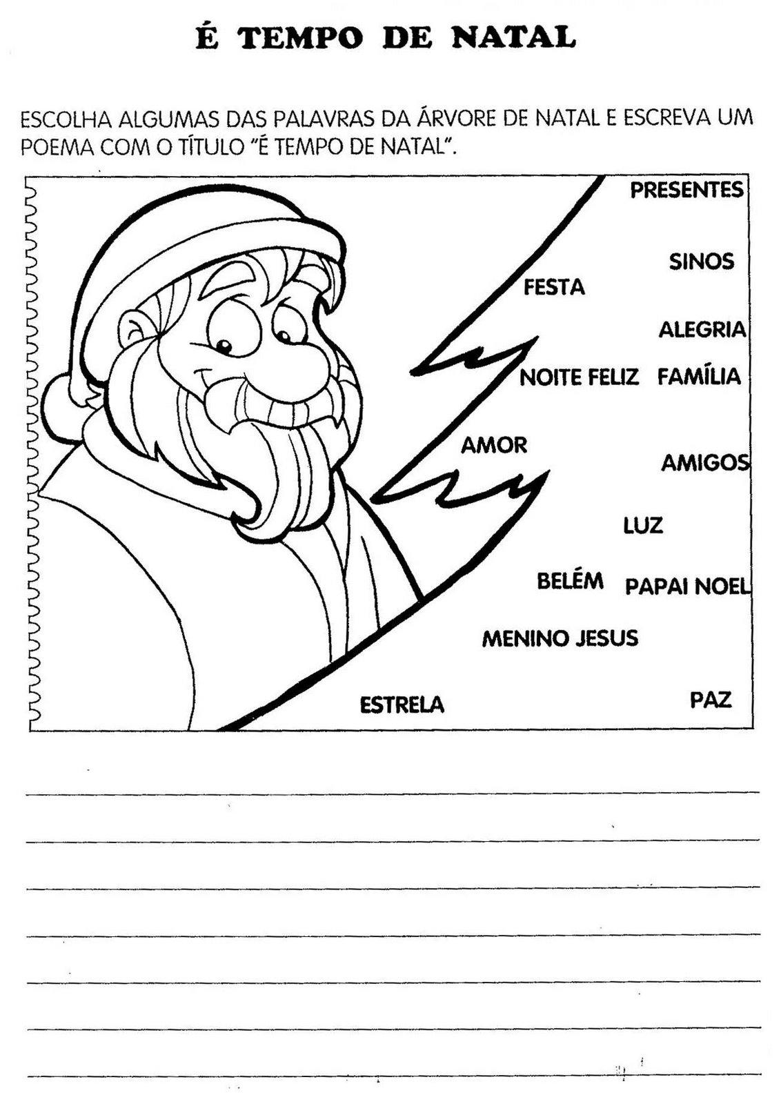 Atividades De Natal Exercicios E Desenhos Para Colorir Imprimir