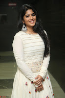 Megha Akash in beautiful White Anarkali Dress at Pre release function of Movie LIE ~ Celebrities Galleries 030.JPG