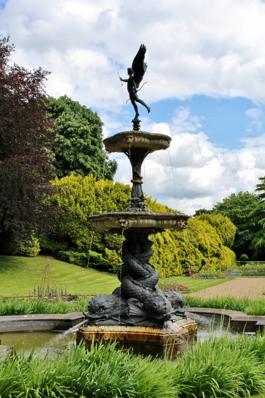 Eros Fountain in Dutch Garden at Ascott National Trust