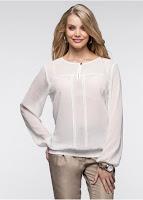 O bluză frumoasă din șifon - modernă,