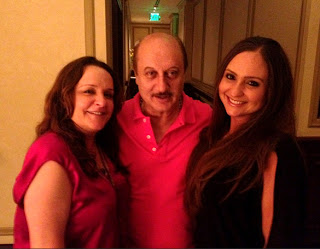 Anupam Kher promotes his movie 'Silver Linings Playbook' in LA