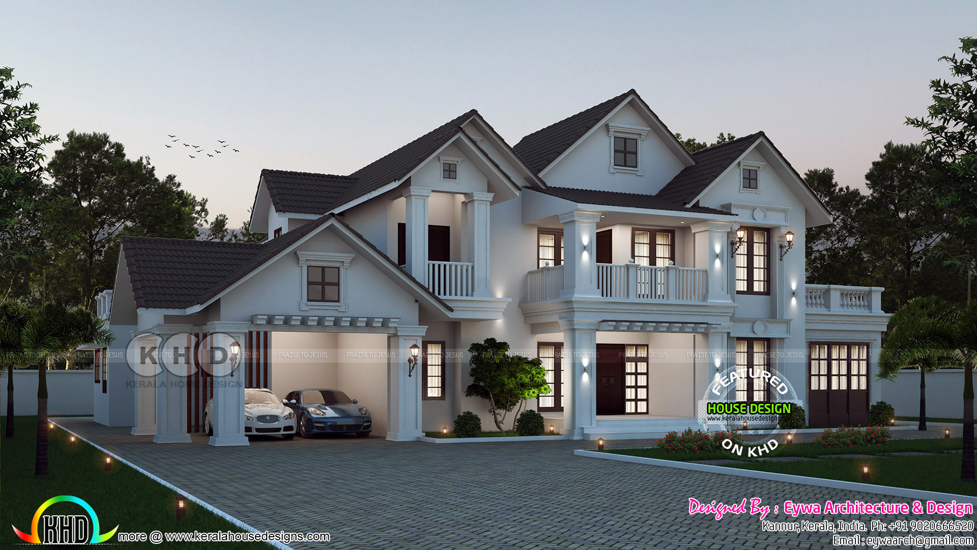 4 bedroom beautiful kerala villa architecture kerala for 4 bedroom villa designs