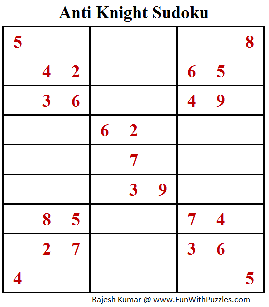 Anti Knight Sudoku (Fun With Sudoku #216)