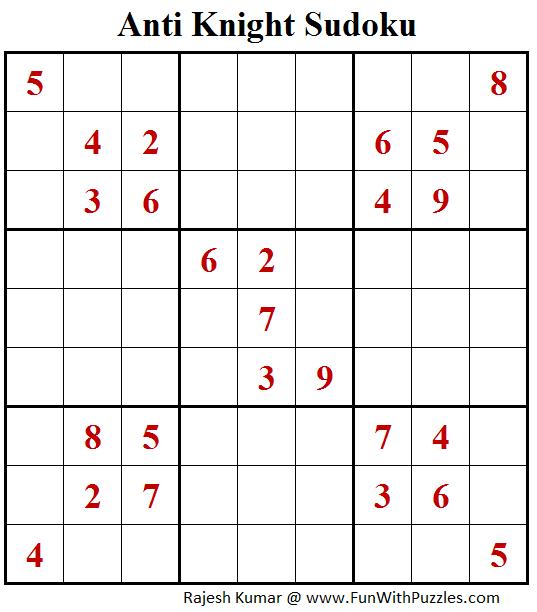 Anti Knight Sudoku (Fun With Sudoku #216)
