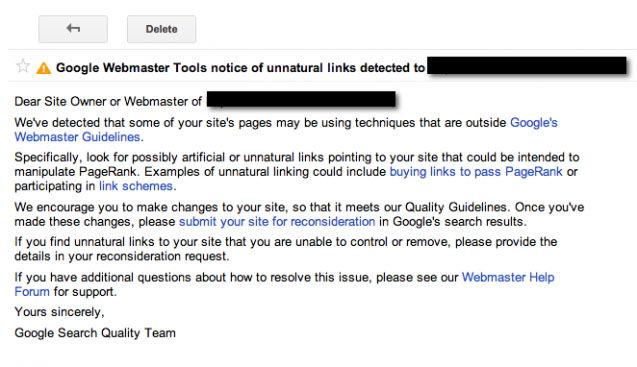 What is Unnatural links that violate Google Webmaster?