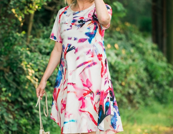 Closet London Multi Water Floral Print Tunic Dress