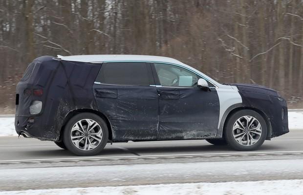 Flagra: Hyundai Santa Fé 2019 roda em testes no Brasil