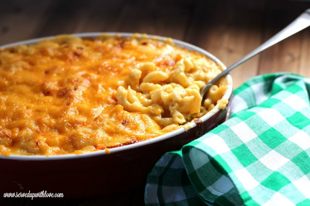 Melissa's Homemade Baked Macaroni and Cheese recipe from Served Up With Love