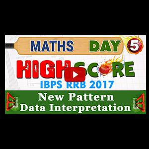 High Score | New Pattern Data Interpretation | Day 5 | Maths | Exam