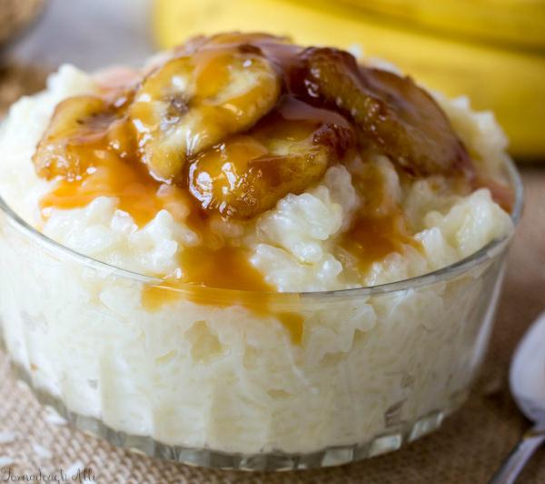arroz con leche con banana