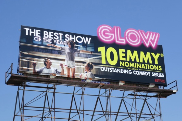 GLOW 2018 Emmy nominee cut-out billboard