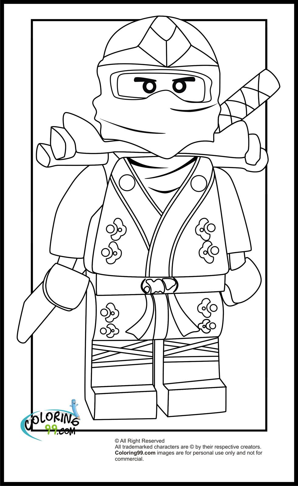 LEGO Ninjago Lloyd The Green Ninja Coloring Pages  Team colors