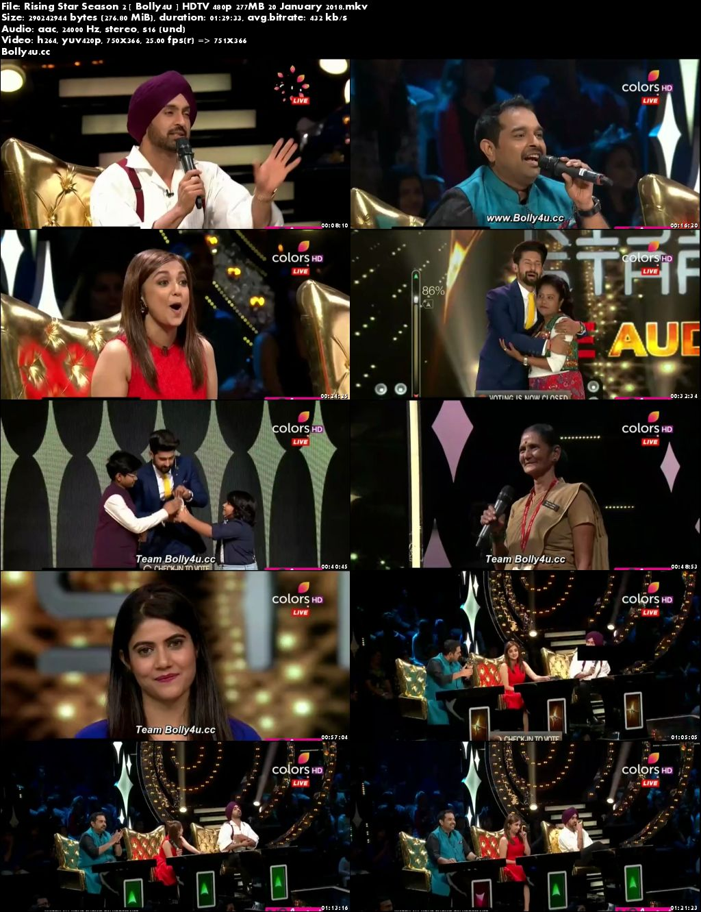 Rising Star Season 2 HDTV 480p 250MB 20 January 2018 Download