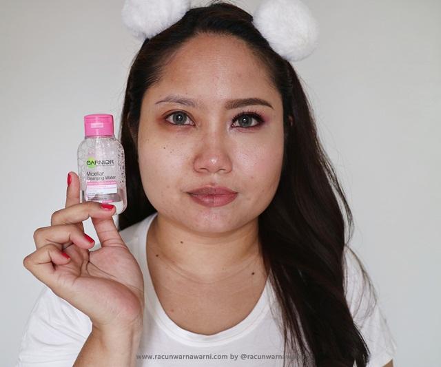 berani bare face bersama garnier micellar water mini