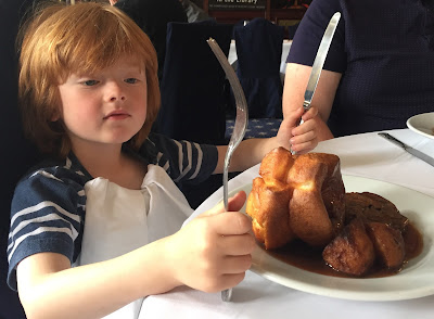 Family Sunday lunch in the Library at Whitworth Hall, Durham - A review