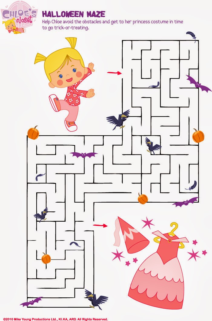 It is a photo of Punchy Halloween Maze Printable